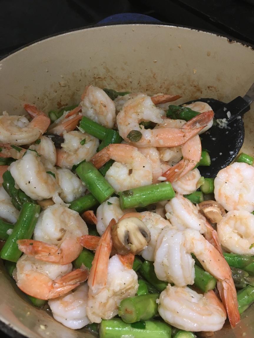 Sizzled Shrimp and AsparagusProvençal